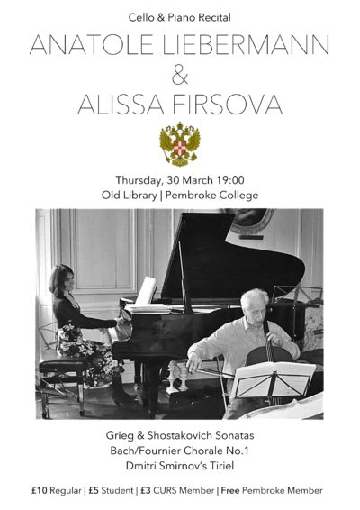 An Evening Of Music With Anatole Liebermann & Alissa Firsova